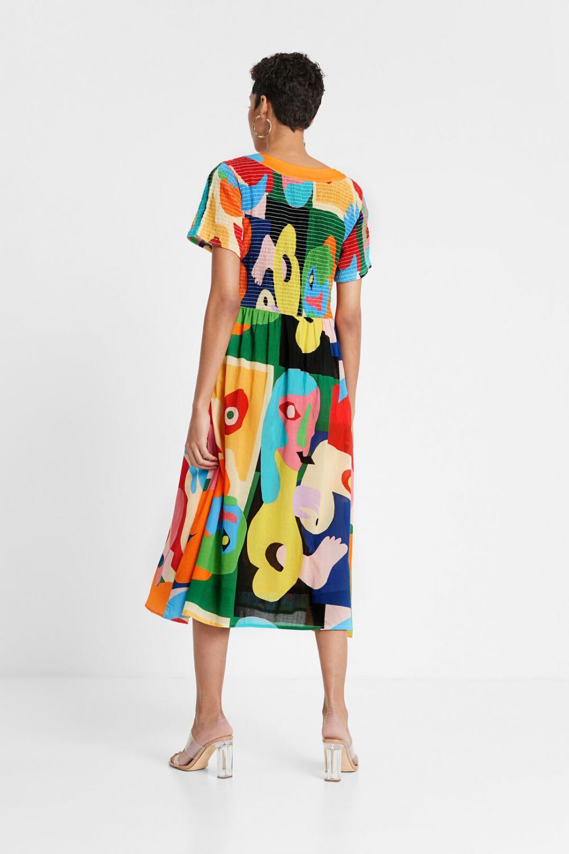 Robes Desigual Femme Robe Eco Friendly Par Miranda Makaroff Multicolore Salsanat Karaoke